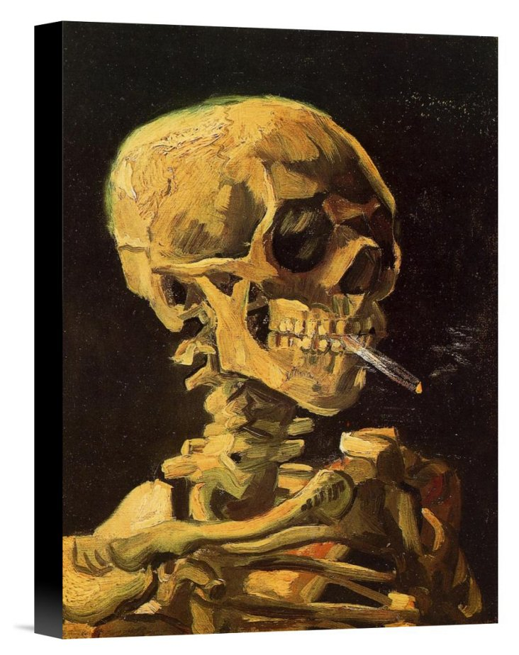Van Gogh, Skull With Burning Cigarette