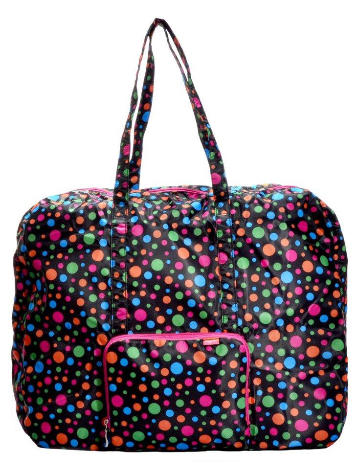 Large Zip-out Travel Bag, Polka Dot