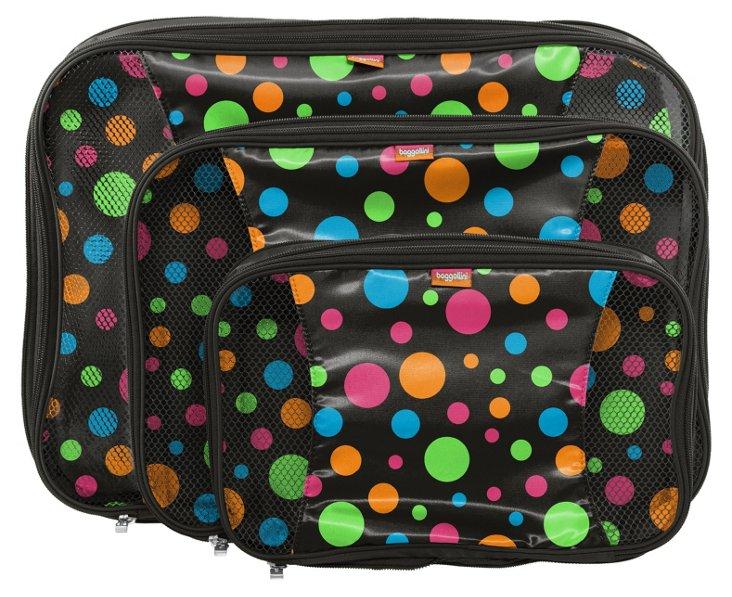 Compression Packing Cubes Set, Polka Dot