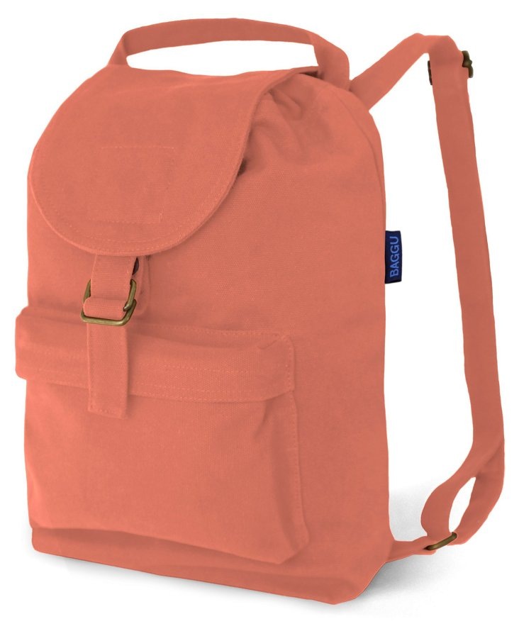 Canvas Backpack, Coral