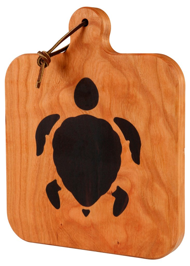 Cherry Cheeseboard, Sea Turtle Inlay