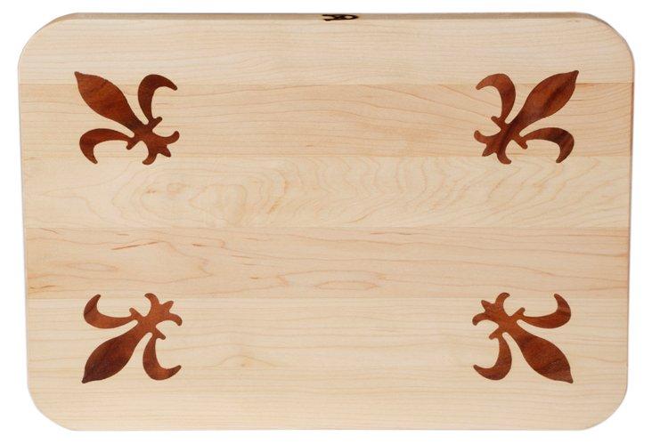 Maple Cutting Board, Fleur-de-Lis