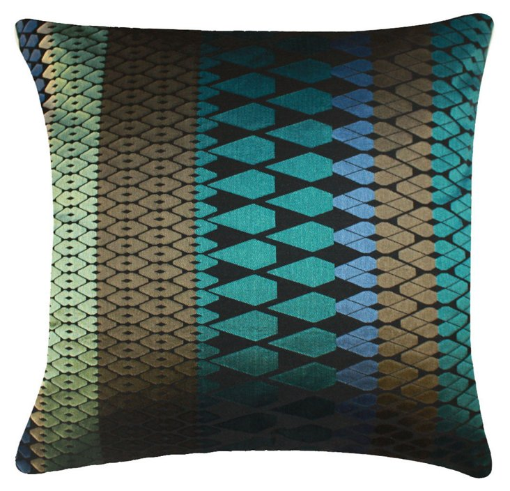 Woodbridge 20x20 Silk Pillow, Multi
