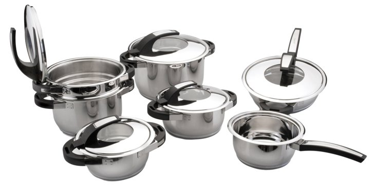12-Pc Virgo Stainless Cookware Set