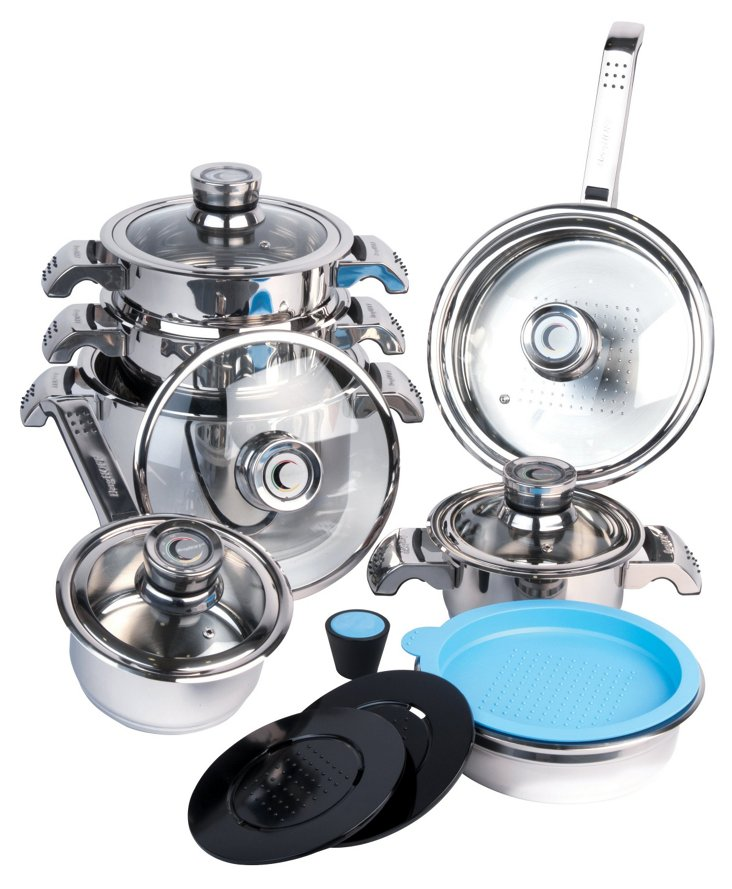 16-Pc Invico Vitrum Cookware Set