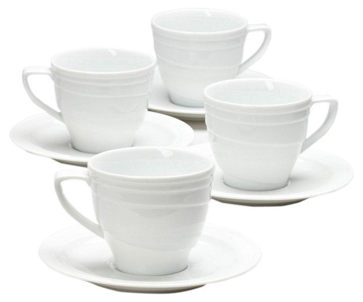 S/4 Elan Tea Cups and Saucers