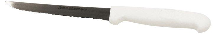 S/2 Scalloped Utility Knives, White