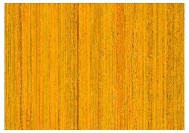 "5'x7'6"" Matilda Flat-Weave Rug, Saffron"