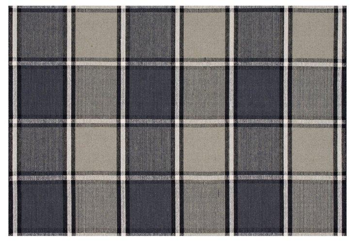 Carmine Flat-Weave Rug, Gray