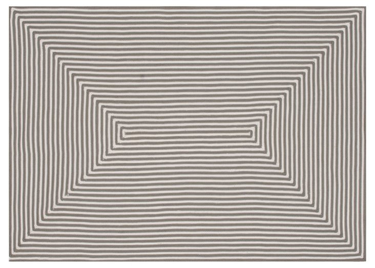 Leah Outdoor Rug, Gray/Ivory