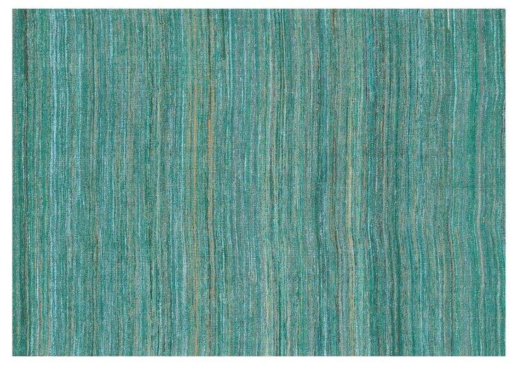 "5'x7'6"" Tessa Flat-Weave Rug, Emerald"
