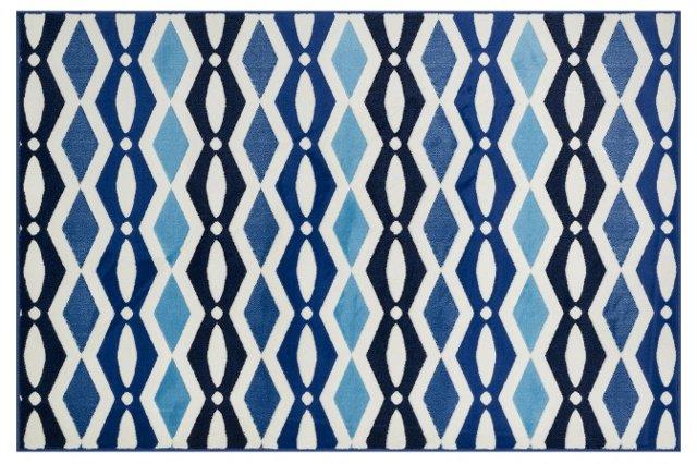 Coralie Rug, Ivory/Blue