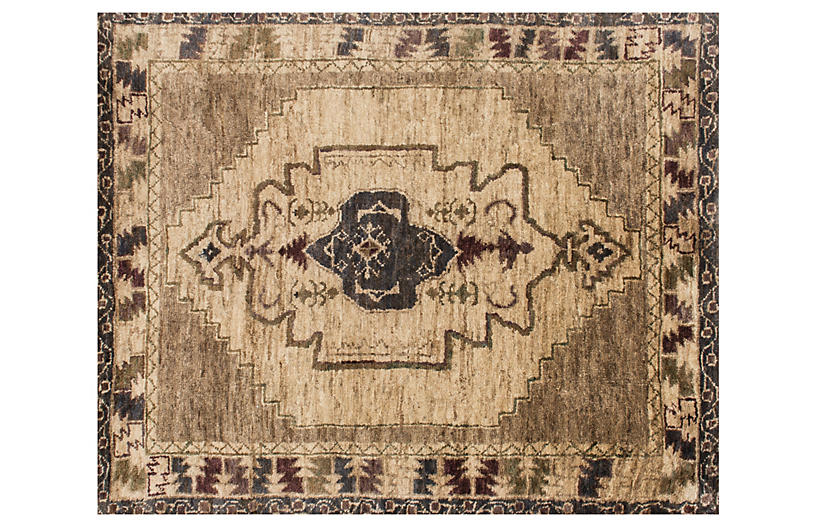 Nann Hand-Knotted Jute Rug, Beige/Brown