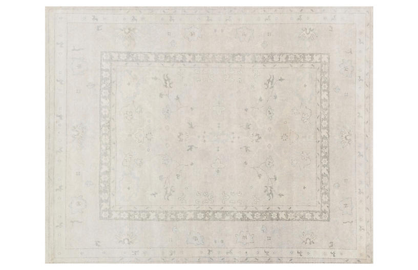 Neville Hand-Knotted Rug, Silver