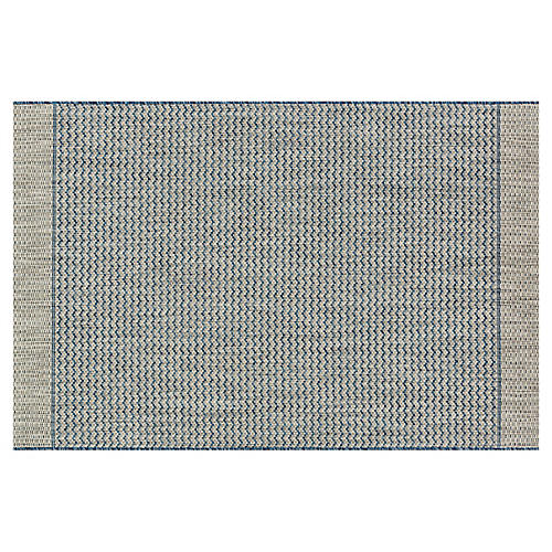 Laural Outdoor Rug, Gray/Blue