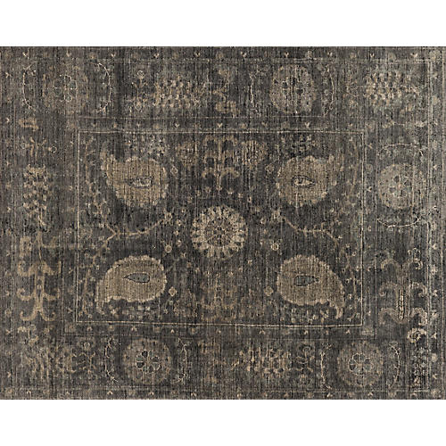 Mina Hand-Knotted Rug, Taupe/Gray