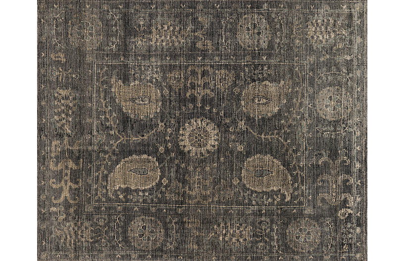 Mina Hand-Knotted Rug, Taupe/Gray | One