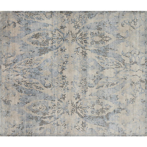 Chance Rug, Light Blue/Cream