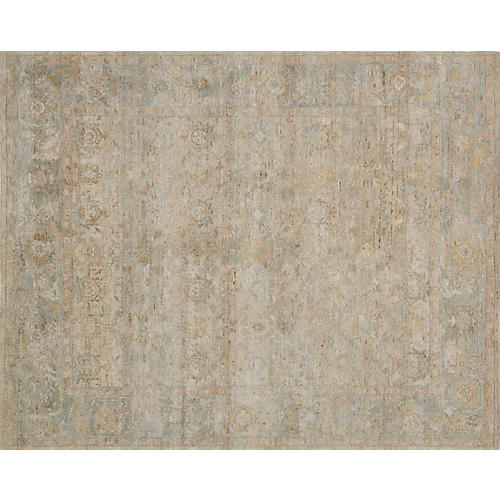 Ronaldo Hand-Knotted Rug, Natural/Multi