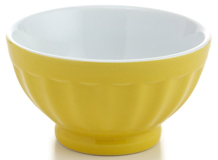 S/4 Small Fluted Bowls, Citrus