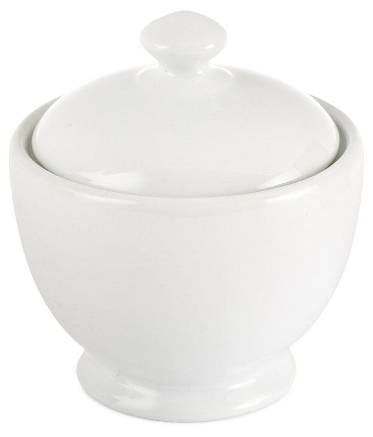 S/2 Porcelain Bistro Sugar Bowls