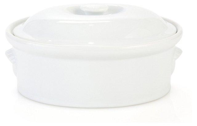 Porcelain Casserole Dish w/ Lid