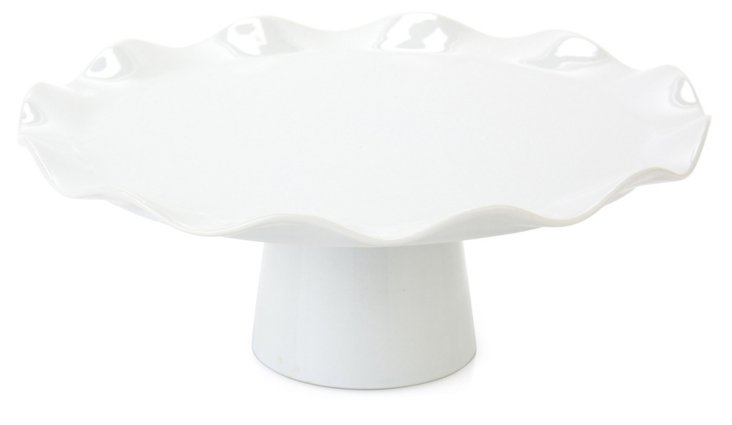 Porcelain Wavy Cake Stand