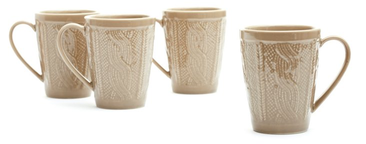 S/4 Sweater Mugs, Gray