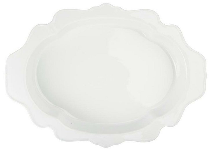 Oval Scalloped Baking Dish