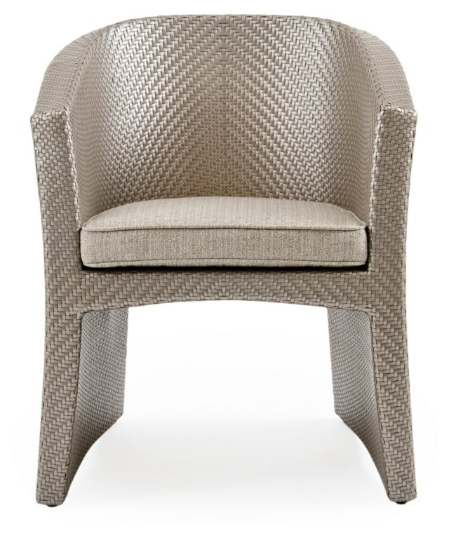 Open Armchair, Platinum