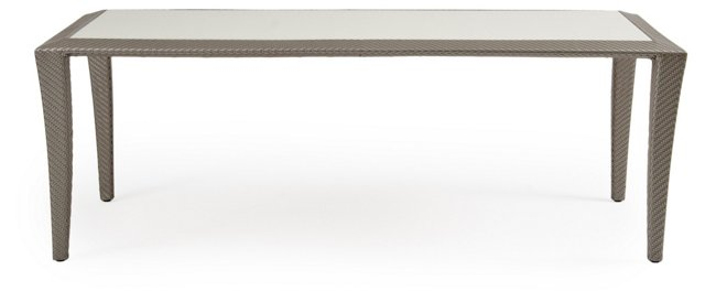 Open Dining Table, Platinum