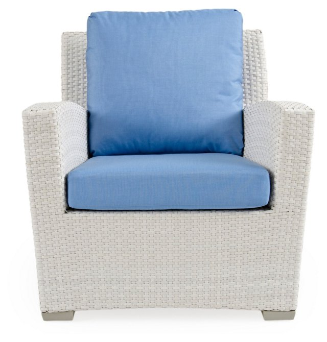 Fusion Lounge Chair, Blue