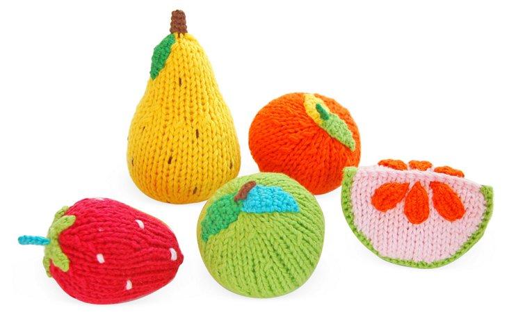 S/5 Fruit Rattles
