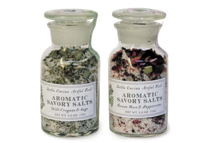 Aromatic Savory Salts, S/2