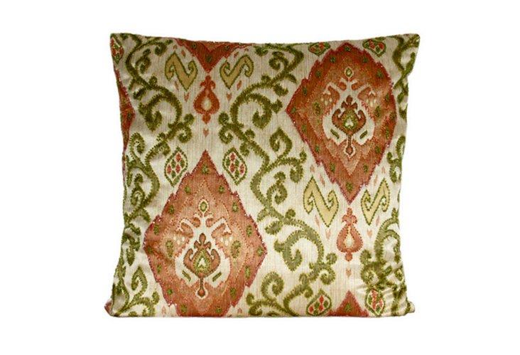 Santiago Lime/Rust 20x20 Pillow