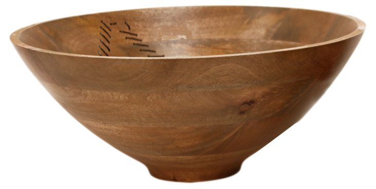 """18"""" Agra Wood and Wire Bowl"""