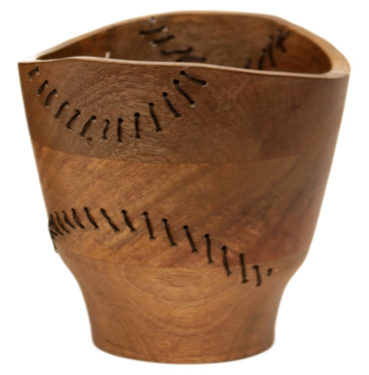 """7"""" Tarsus Wood and Wire Bowl"""