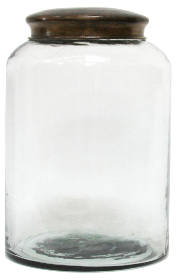 Glass Jar w/ Brass Lid