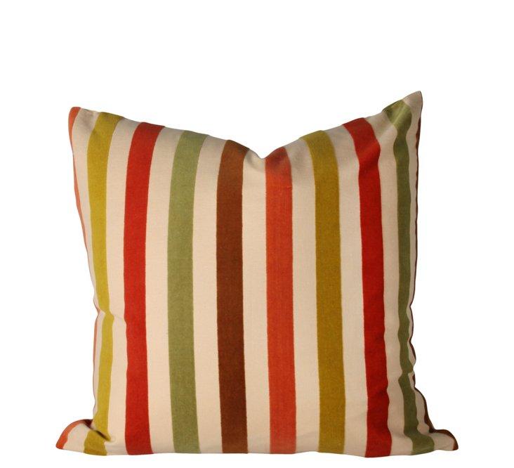 Oxford Stripe 18x18 Pillow