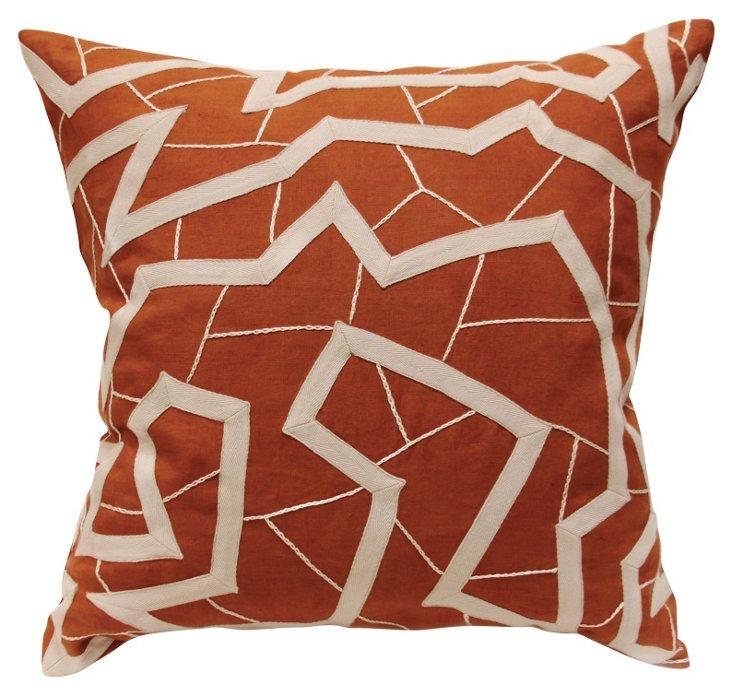 Aswa Apricot 22x22 Pillow