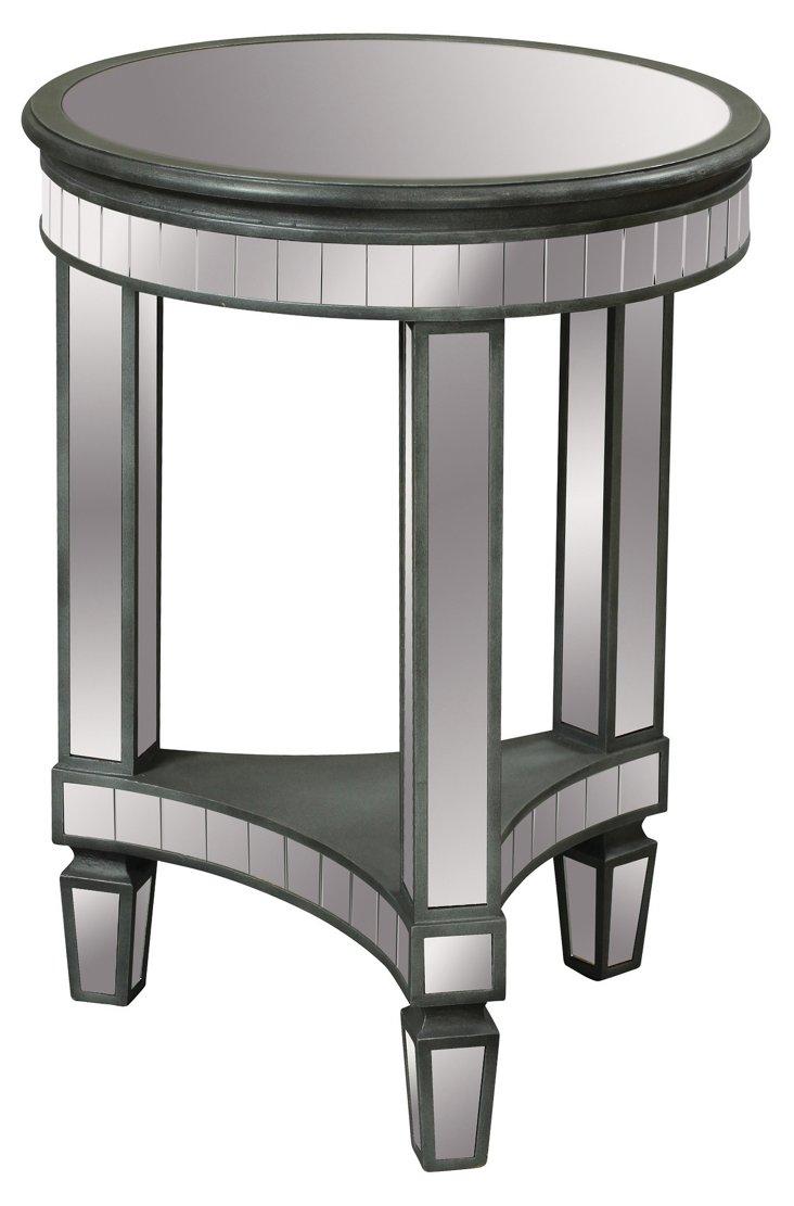 Nicosia End Table, Silver