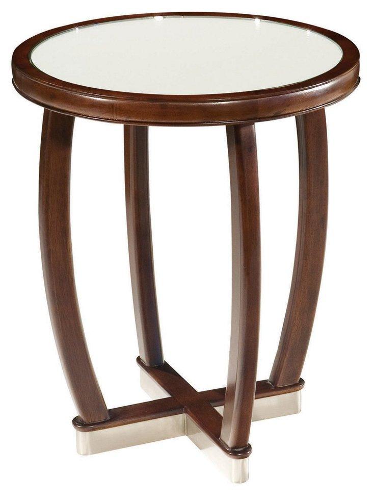 Sasha Mirror Side Table, Umber