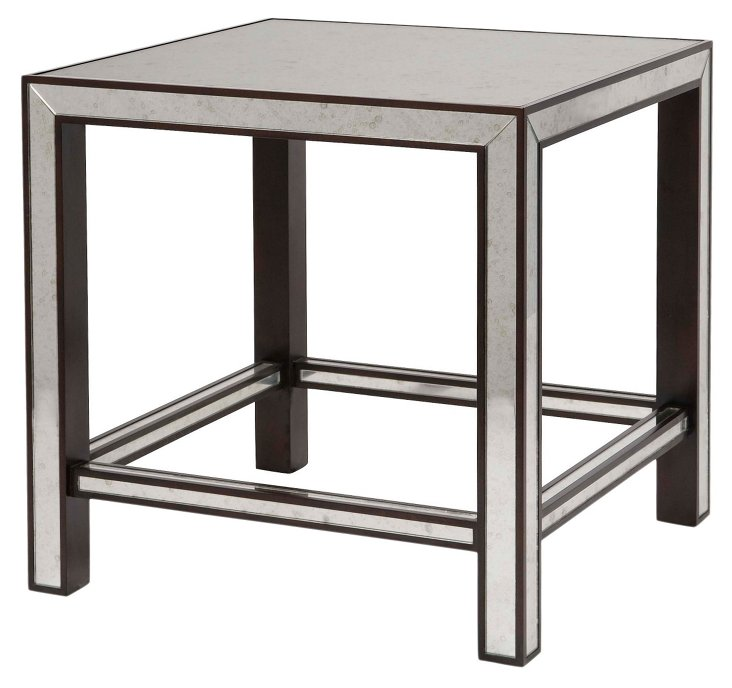 Sloane Mirrored Side Table, Wenge