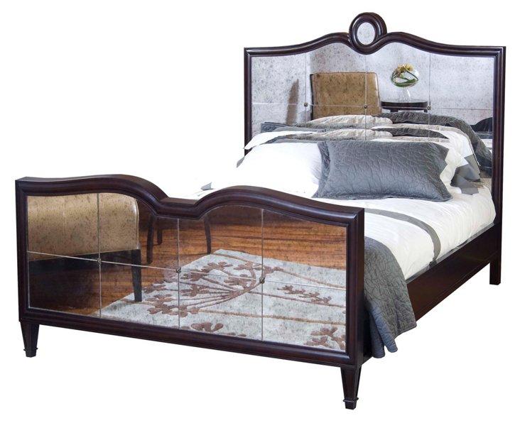 Miles Mirrored Bed, Queen