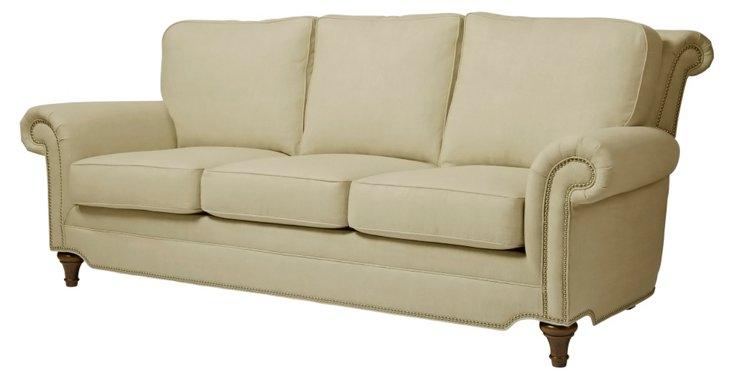 "Elle 86"" Sofa, Khaki"