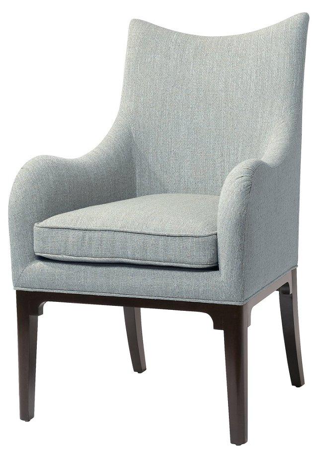 Virtue Dining Armchair, Sea Glass