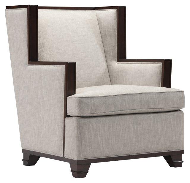 Davis Wing Club Chair, Ash