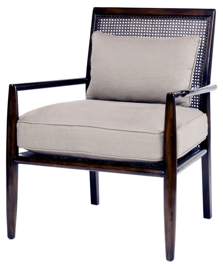 Luisa Linen Occasional Chair, Dove Gray