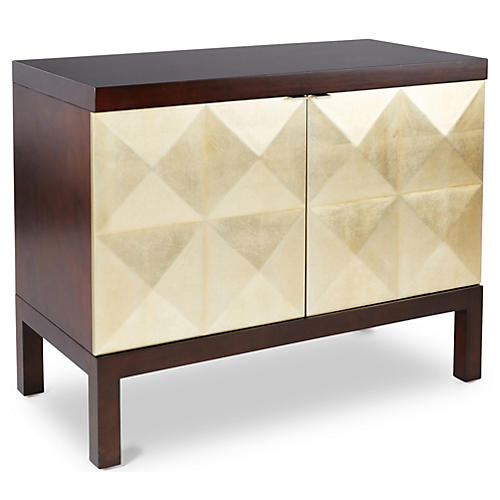 "Blair 40"" 2-Door Chest, Pale Gold"