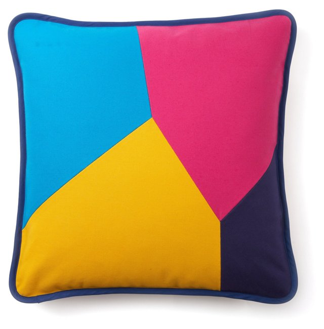 """Throw Pillow, """"Color My World"""""""